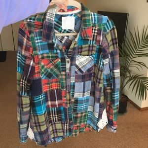 Free People Tops - Free People Lost In Plaid (Large)